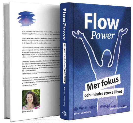 FlowPower boken baksida och framsida